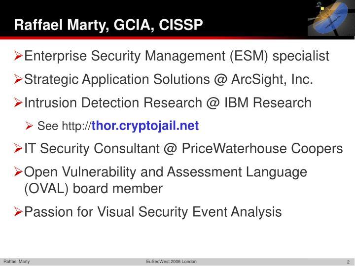 Raffael Marty, GCIA, CISSP