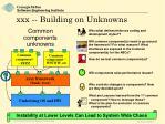 xxx building on unknowns