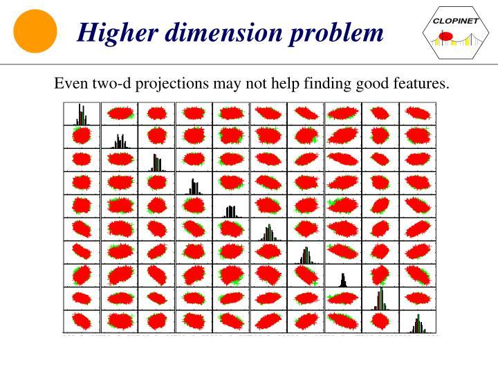 Higher dimension problem