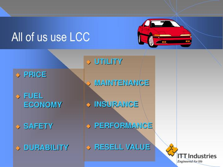 All of us use lcc