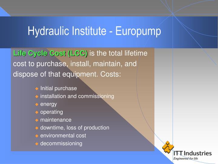 Hydraulic Institute - Europump