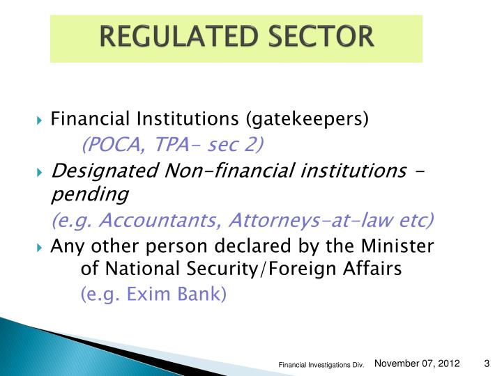 Regulated sector