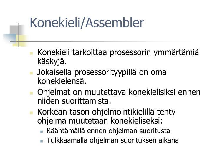 Konekieli/Assembler