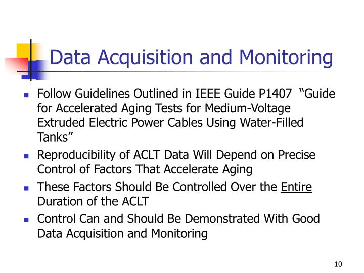 Data Acquisition and Monitoring