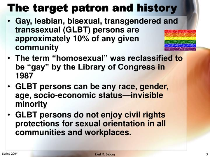 The target patron and history