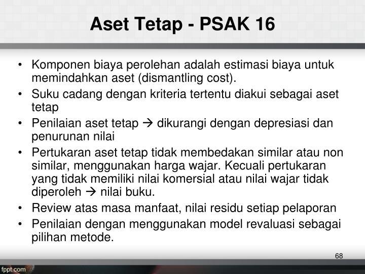 Aset Tetap - PSAK 16