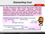 dismantling cost