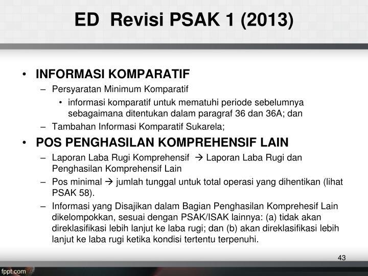 ED  Revisi PSAK 1 (2013)