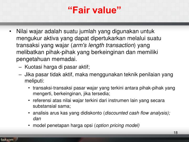 """Fair value"""