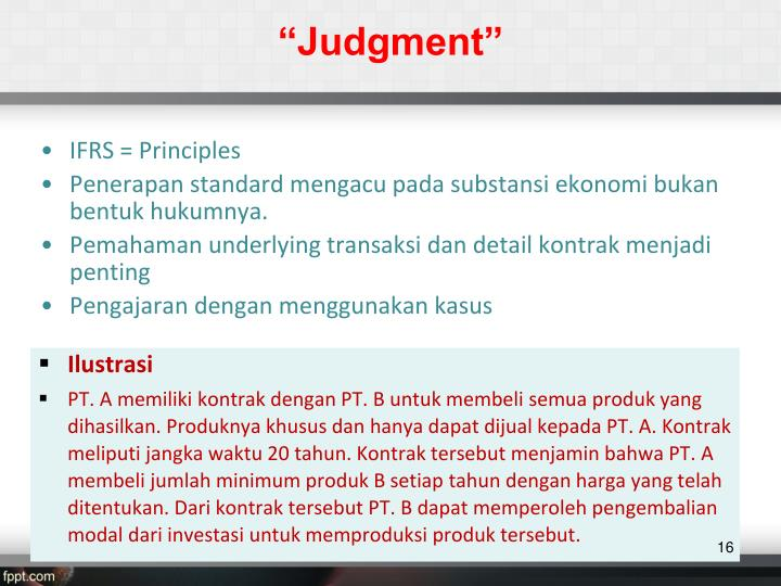 """Judgment"""