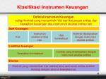 klasifikasi instrumen keuangan