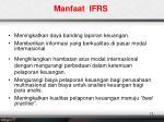 manfaat ifrs