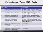 p erkembangan tahun 2013 revisi