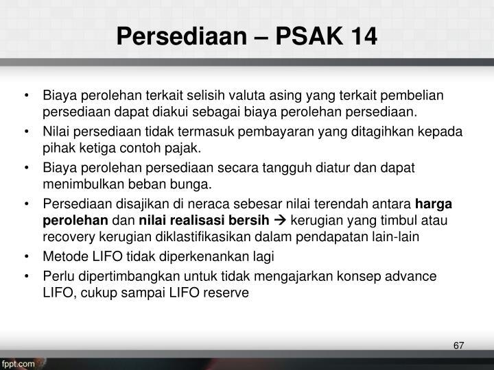 Persediaan – PSAK 14