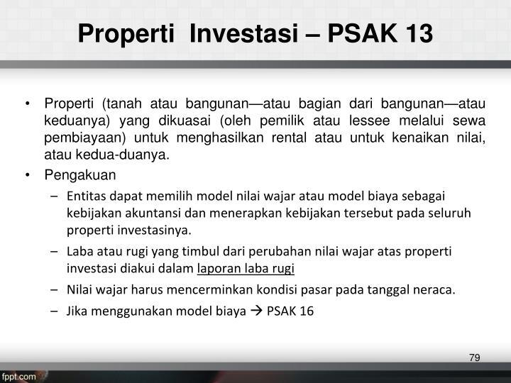 Properti  Investasi – PSAK 13