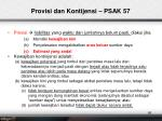 provisi dan kontijensi psak 57