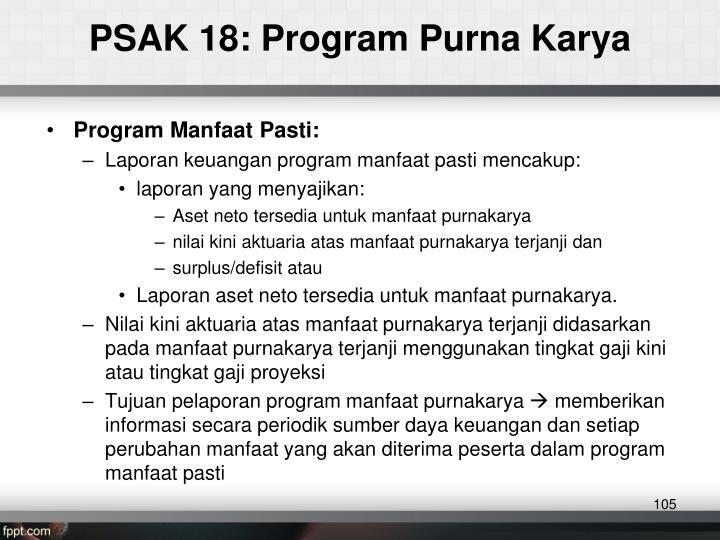 PSAK 18: Program