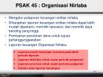 psak 45 organisasi nirlaba