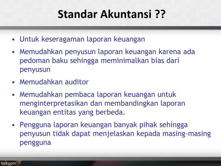 Standar Akuntansi ??
