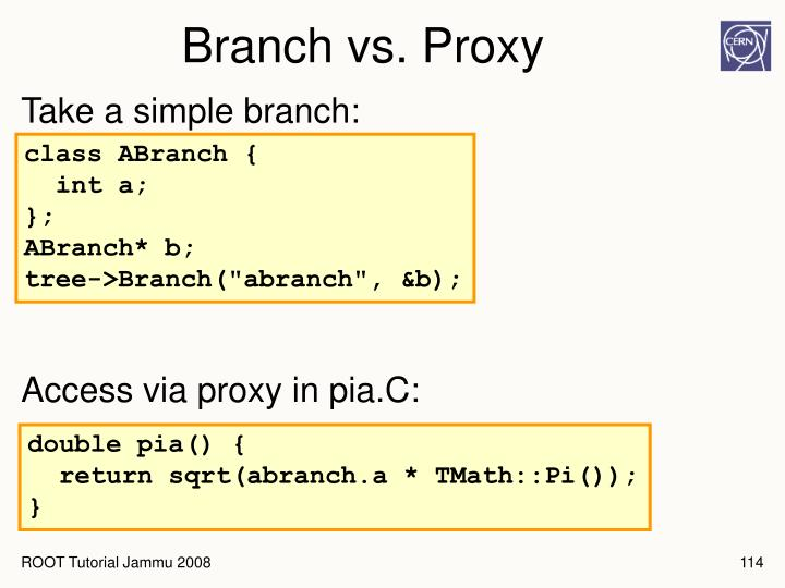 Branch vs. Proxy