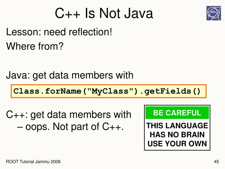 C++ Is Not Java