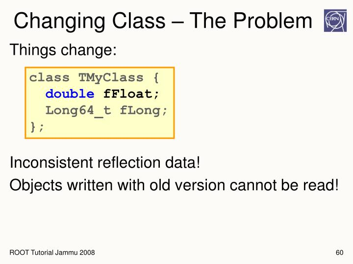 Changing Class – The Problem