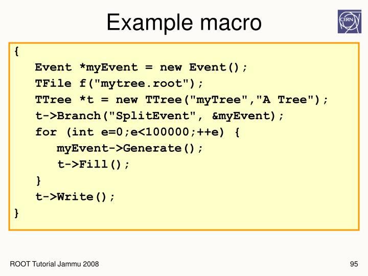 Example macro