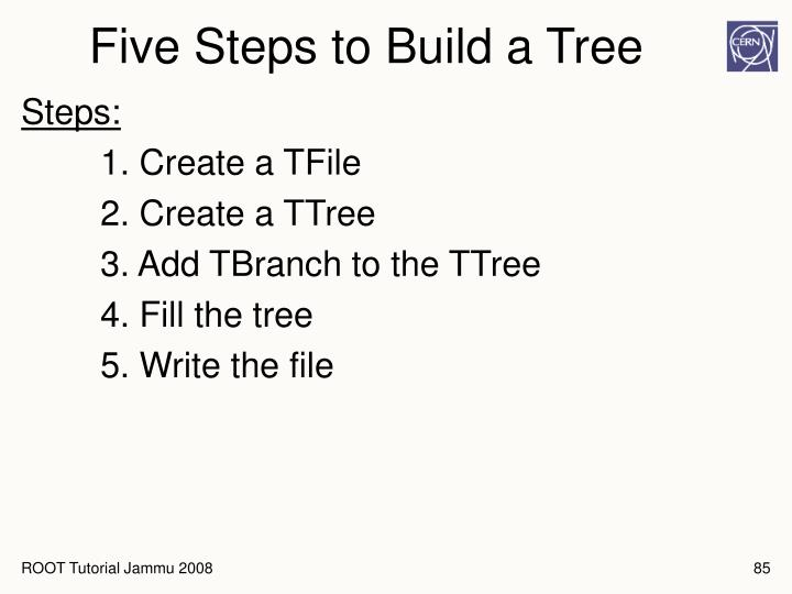 Five Steps to Build a Tree