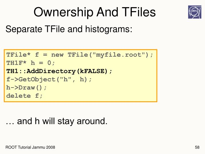 Ownership And TFiles