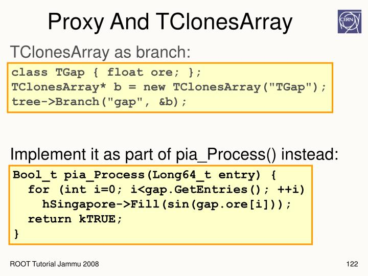 Proxy And TClonesArray