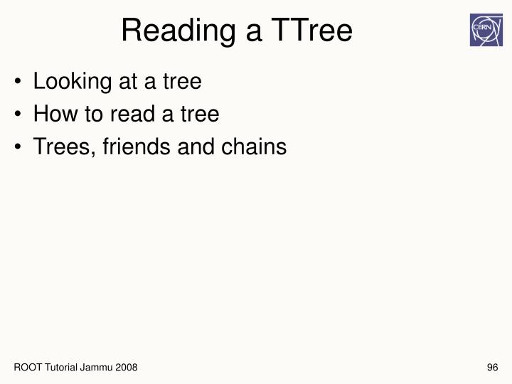 Reading a TTree