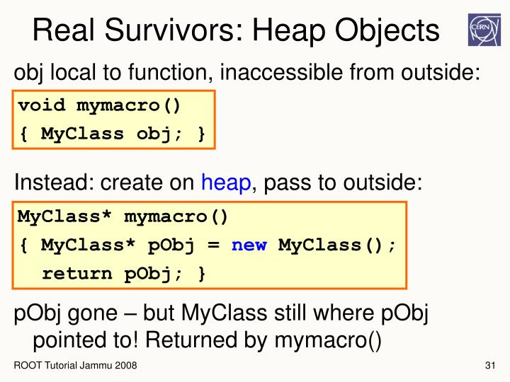 Real Survivors: Heap Objects