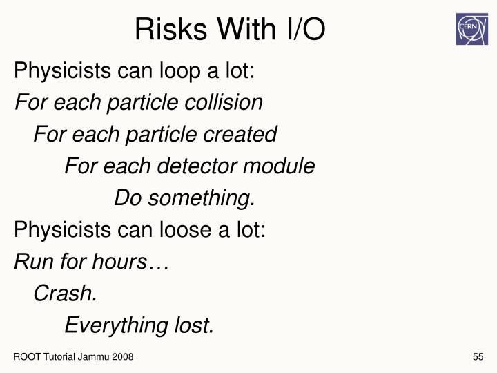 Risks With I/O
