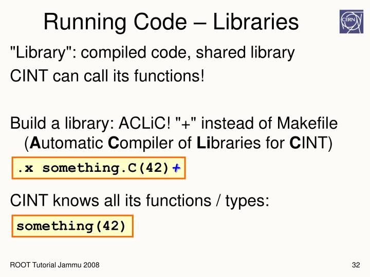 Running Code – Libraries
