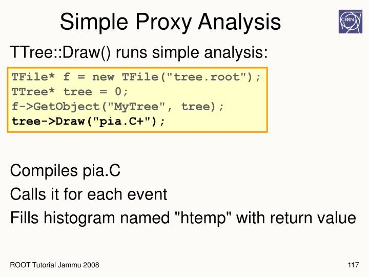 Simple Proxy Analysis