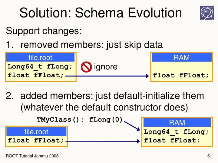 Solution: Schema Evolution