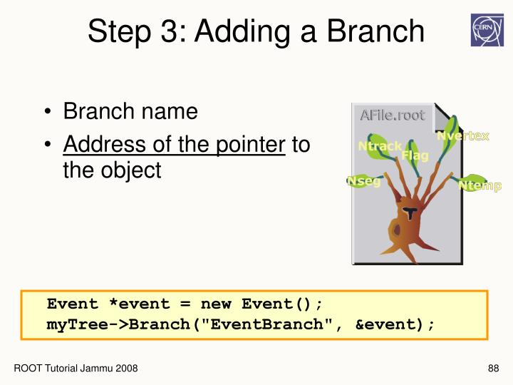 Step 3: Adding a Branch