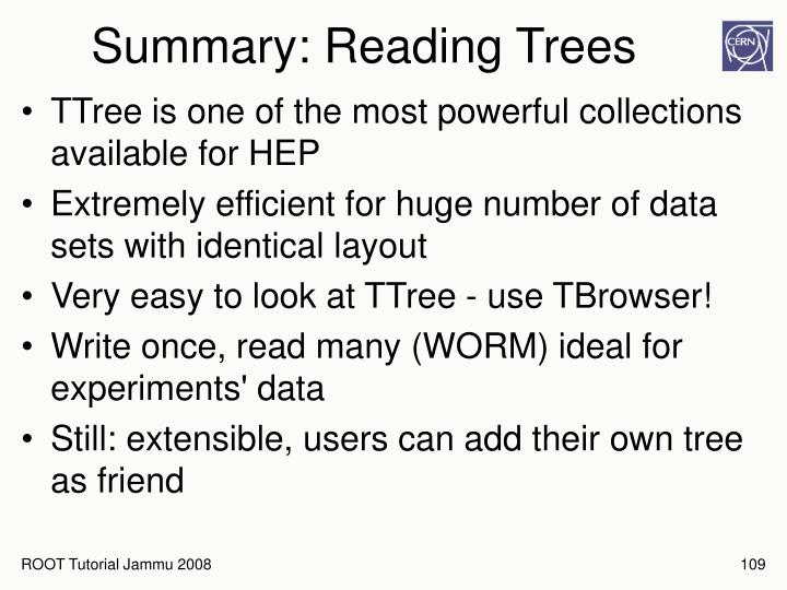 Summary: Reading Trees