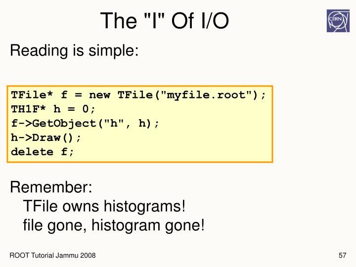 """The """"I"""" Of I/O"""