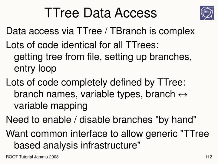 TTree Data Access