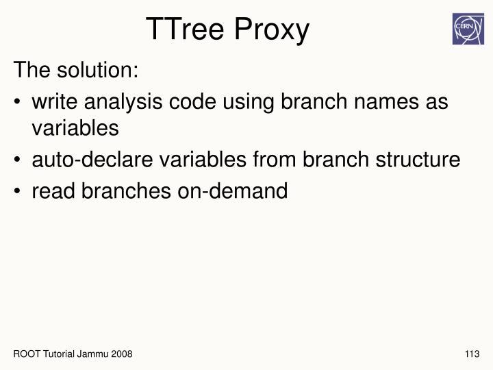 TTree Proxy