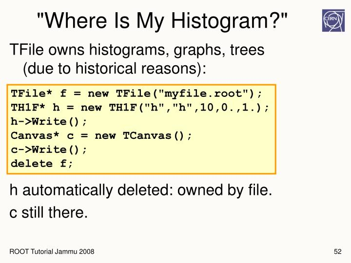 """Where Is My Histogram?"""