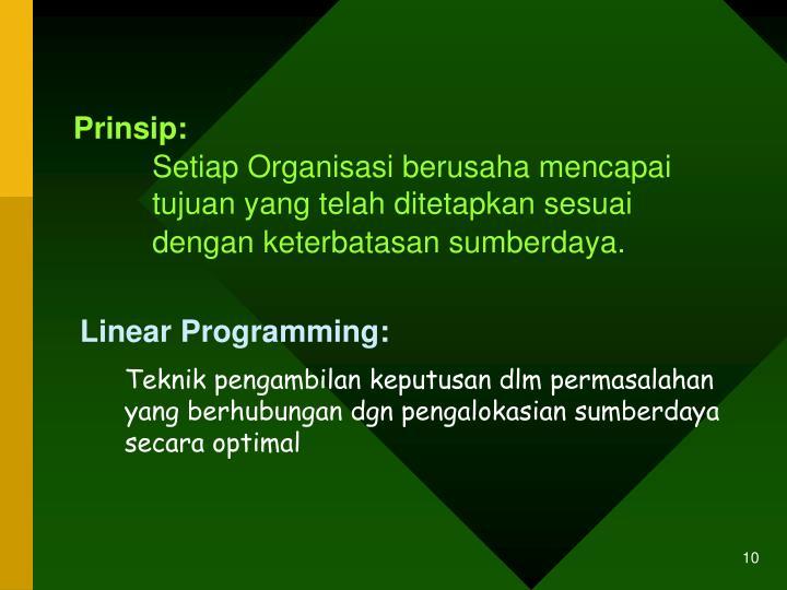 Prinsip: