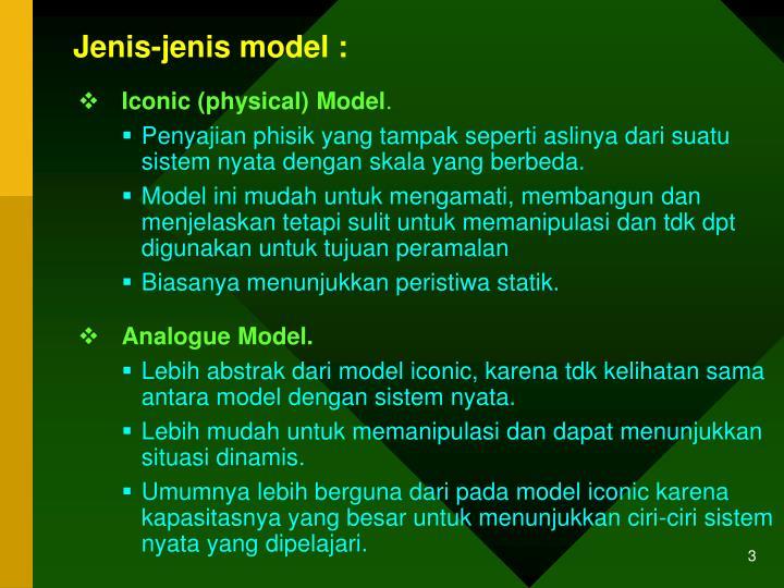 Jenis-jenis model :
