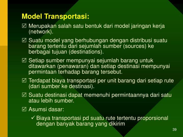 Model Transportasi: