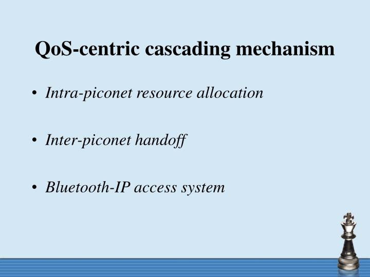 QoS-centric cascading mechanism