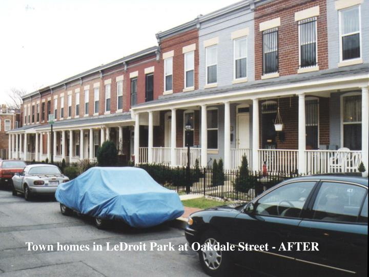 Town homes in LeDroit Park at Oakdale Street - AFTER