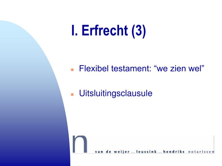 I. Erfrecht (3)