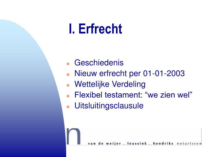 I. Erfrecht