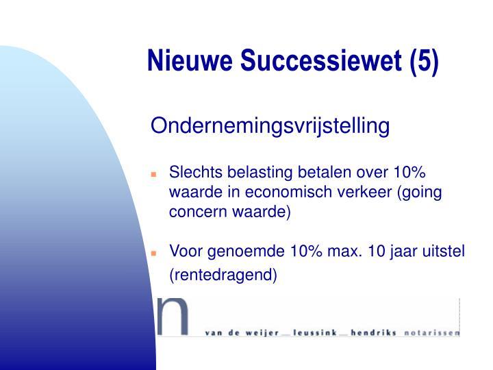 Nieuwe Successiewet (5)